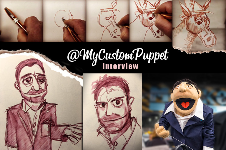 @MyCustomPuppet; Littletown Artist to Hollywood to Puppets to Fountain Pens